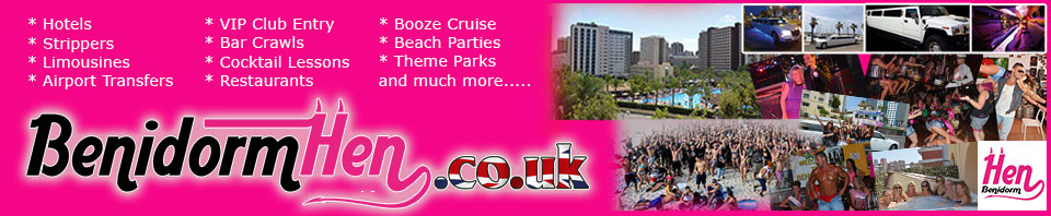 Benidorm Hen Party banner